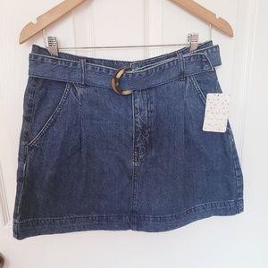Free People Skirts - NEW Free people Jade denim belt skirt